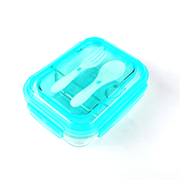 Bento Box 2 Compartment Glass